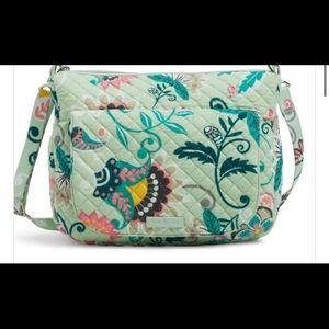 Vera Bradley Carson mint flower shoulder bag